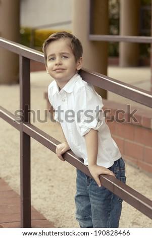 Small  happy boy  - stock photo