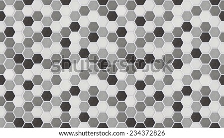 small hexagonal tiles of marble - stock photo