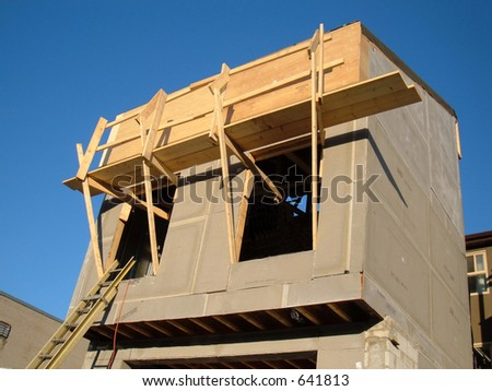 small house  - new construction - framing and plywood
