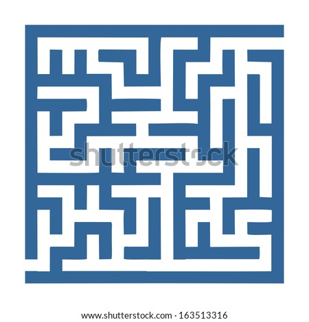 small labyrinth that is easy to solve for children