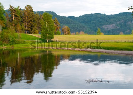 Small lake - stock photo