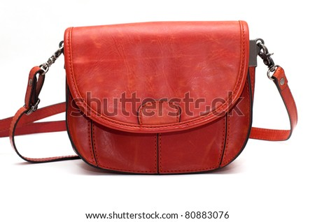 Small leather bag - stock photo