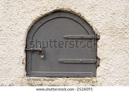 small locked door