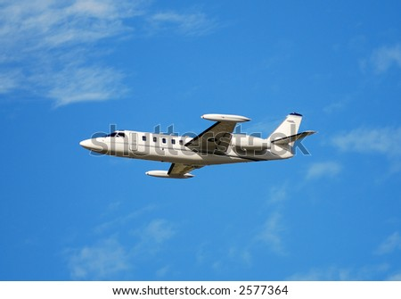 Small luxury jet for corporate travel - stock photo