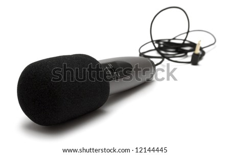 Small Microphone - stock photo