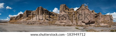 Small mining outpost in the highlands close to colca canyon, Peru  - stock photo