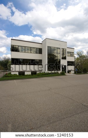 Small Office Building in the Suburbs (Front) - stock photo