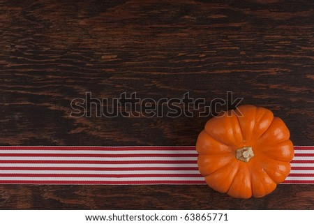 Small orange pumpkins symbolising autumn holidays and used in decorative works. - stock photo