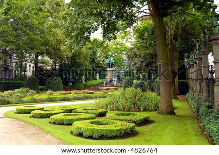 Small park in center of Brussels