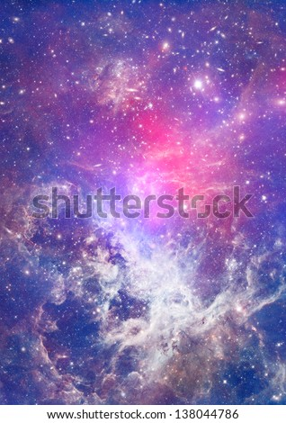 Small part of an infinite star field of space in the Universe - stock photo