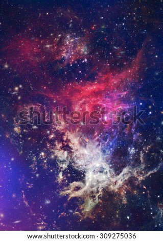 "Small part of an infinite star field of space in the Universe. ""Elements of this image furnished by NASA"". - stock photo"
