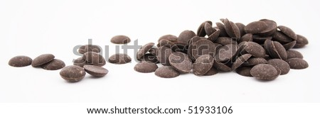 small pile of milk chocolate bits