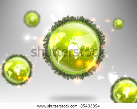 small planet - stock photo