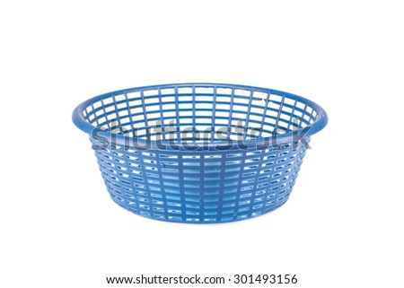 Small plastic basket on a white background
