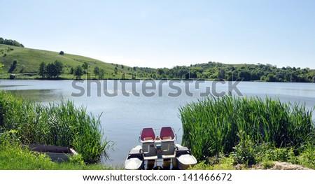 Small pond - stock photo