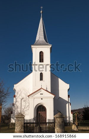 Small protestant church  - stock photo