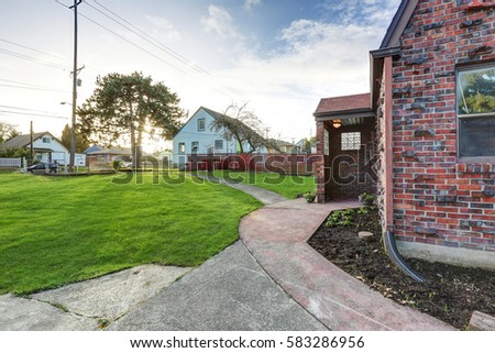 Fine Quotred Brick House Entrancequot Stock Images Royalty Free Largest Home Design Picture Inspirations Pitcheantrous