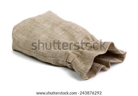 Small sack isolated on white - stock photo