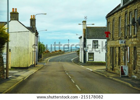 Small seaside old town - stock photo