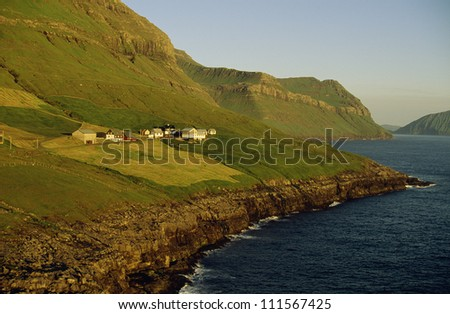 Small settlement at Faeroe Islands, Denmark