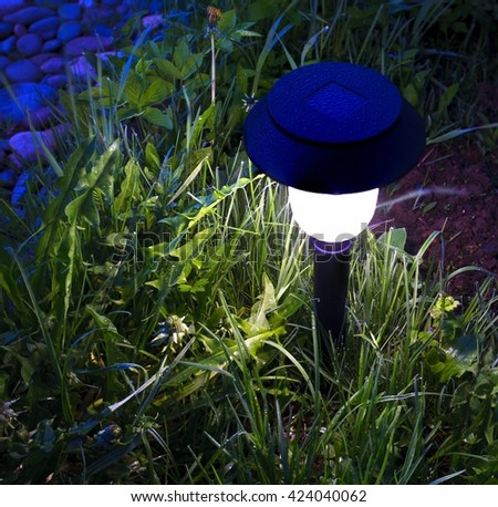 Solar Garden Lights Stock Images Royalty Free Images