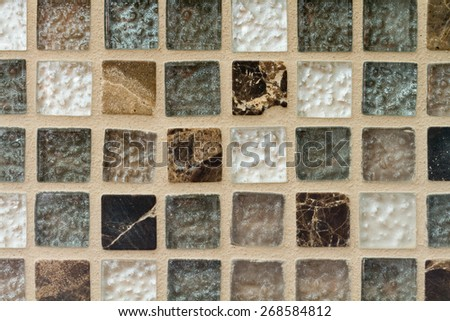 small square natural stone tiles