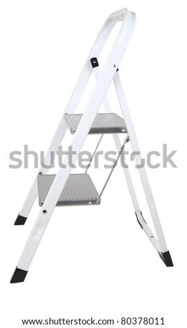 Small step - ladder isolated on white - stock photo
