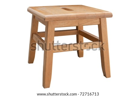 Small Stool in white background - stock photo