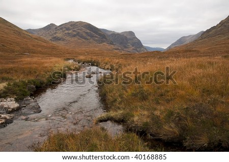 Small stream (burn) in the Scottish Highlands