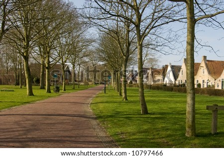 Small street in The Netherlands - stock photo