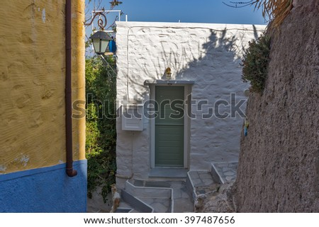 Small Streets in old town of Ermopoli, Syros, Cyclades Islands, Greece