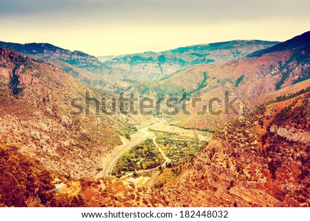 Small Town in Colorado  - stock photo