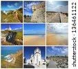 Small towns in Portugal. Portuguese Atlantic coast - stock photo