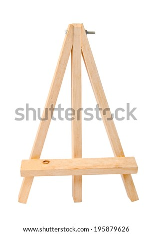 Small tripod for painting without canvas - stock photo