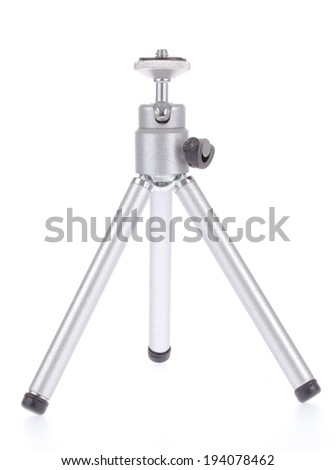 Small tripod made of aluminum. Tripod for small cameras
