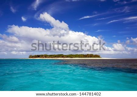 Small Tropical Island - stock photo