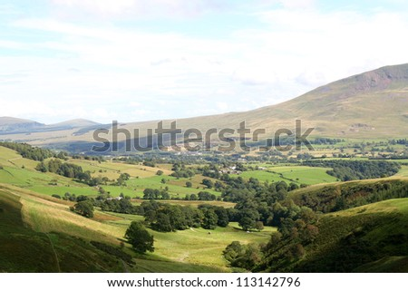 Small valley of Whit Beck on the southern edge of Skiddaw, east of Keswick in the Lake District National Park, Cumbria, UK. - stock photo