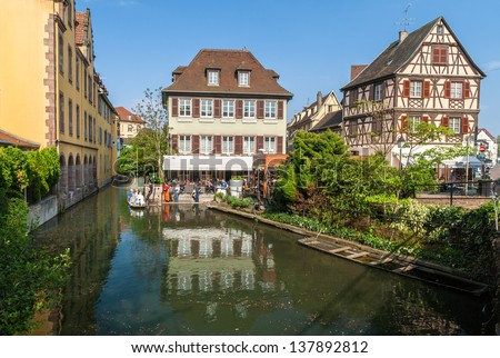 Small Venice district of Colmar - Alsace, France - stock photo
