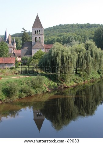 Small village in the South of France (Dordorgne) - stock photo