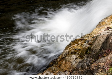 Small waterfalls in the daytime