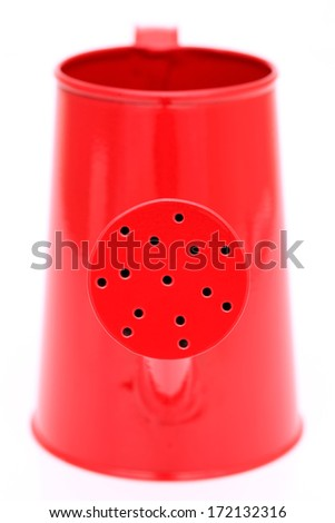 small watering can isolated on white background  - stock photo