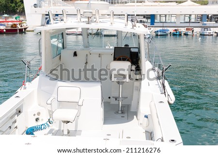 Small white yacht