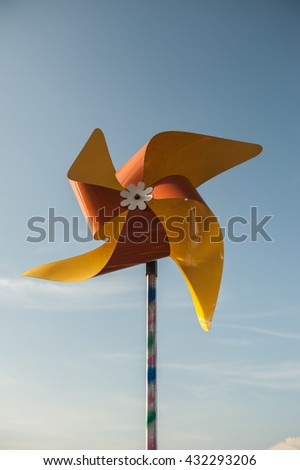 Small wind turbine energy innovation, clean energy, eco-friendly alternative.  - stock photo
