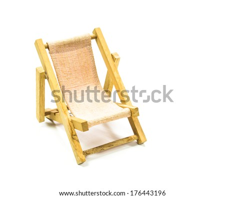Small wooden chair Isolated on white background