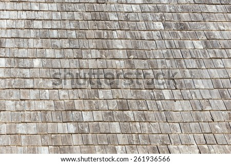 Small wooden roof texture - stock photo