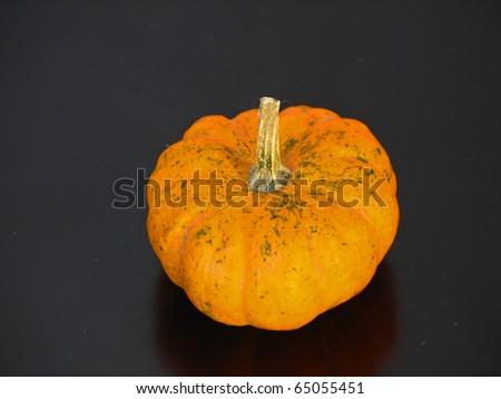 Small yellow pumpkin. Autumn dry fruit. Yellow pumpkin. - stock photo