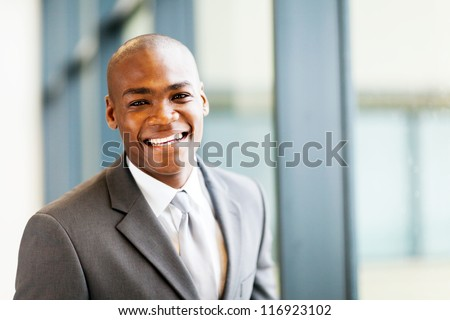 smart african american businessman in office - stock photo