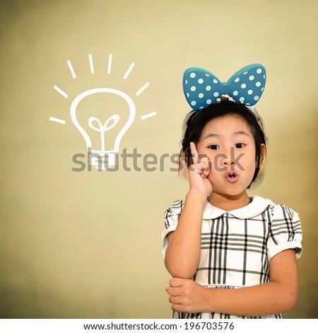 Smart Asian kid in class. Idea concept - stock photo