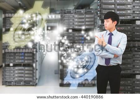Smart Business man - stock photo
