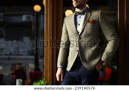 Smart casual outfit - stock photo